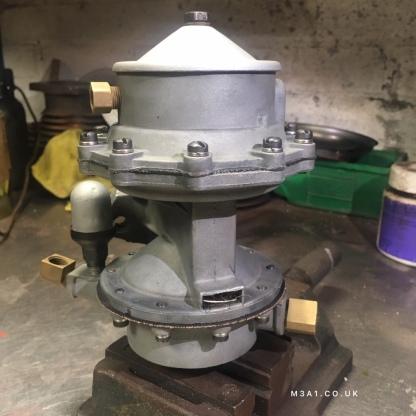 Rebuilt M3A1 Scout car fuel pump